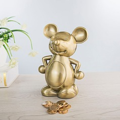 Golden Mouse Piggy Bank Birthday Present Wedding Gift