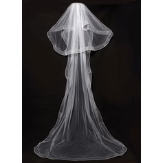 Two-tier Pencil Edge Chapel Bridal Veils