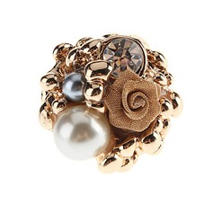 Beautiful Alloy With Imitation Pearl Ladies' Fashion Rings