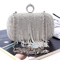 Refined Crystal/ Rhinestone Clutches/Satchel (012118117)
