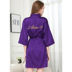 Personalized Charmeuse Bride Bridesmaid Mom Junior Bridesmaid Glitter Print Robes (248205130)