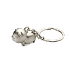Pig Zinc Alloy Keychains