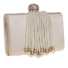 Elegant Polyester/Imitation Pearl Clutches