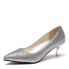 Women's Sparkling Glitter Stiletto Heel Pumps Closed Toe With Sequin shoes (085169769)