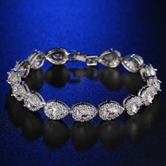 Chic Platinum Plated With Zircon Ladies' Fashion Bracelets