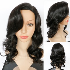 Wavy Mid-Length Synthetic Wigs African American Wigs