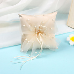 Dreamy Cloth Ring Pillow With Ribbons/Pearl/Tulle