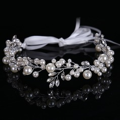 Ladies Elegant Rhinestone/Alloy/Imitation Pearls Headbands