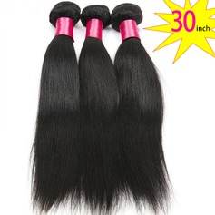 30 inch 8A Grade Brazilian Straight Virgin human Hair weft(1 Bundle 100g)