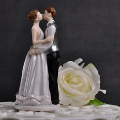 Figurine Kissing Couple Resin Wedding Cake Topper