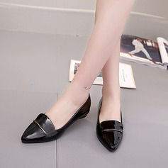 Women's PU Low Heel Closed Toe With Others shoes (086137054)