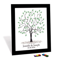 """Our Wedding Tree"" Fingerprint Signature Framed Canvas (101058366)"