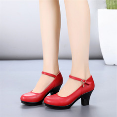 Women's Leatherette Real Leather Heels Latin Character Shoes Dance Shoes