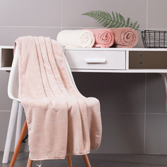 Simple Coral Fleece Bath Towel