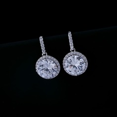 Classic Alloy Zircon Ladies' Fashion Earrings