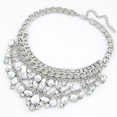 Shining Alloy With Imitation Crystal Ladies' Fashion Necklace