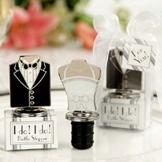Bride And Groom Stainless Steel Bottle Stoppers