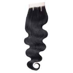 "4""*4"" 5A Virgin/remy Water Wave Human Hair Closure (Sold in a single piece) 30g"