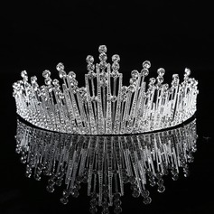Ladies Exquisite Alloy Tiaras With Rhinestone (Sold in single piece)