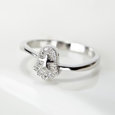 Ladies' Elegant 925 Sterling Silver Rings For Bride/For Bridesmaid/For Couple