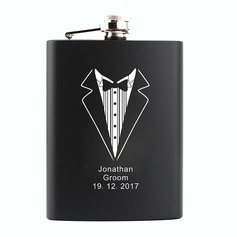 Groom Gifts - Personalized Stainless Steel Flask