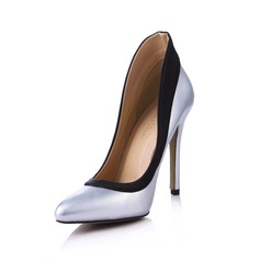 Leatherette Silk Like Satin Stiletto Heel Pumps Closed Toe With Split Joint shoes