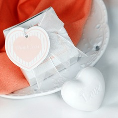 Mini Heart Scented White Soap Wedding Favor