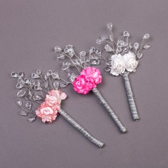 Sweet Crystal/Acrylic Boutonniere