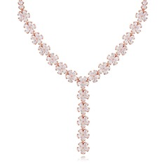 Shining Zircon Ladies' Fashion Necklace