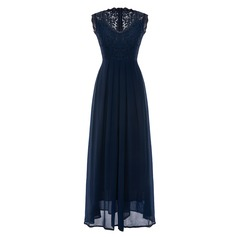 Chiffon With Lace Maxi Dress (199166879)