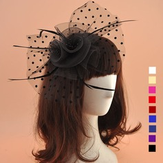 Dames Style Vintage Organza avec Feather Chapeaux de type fascinator/Chapeaux Tea Party