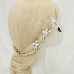 Eye-catching Rhinestone/Alloy/Imitation Pearls Hairpins (Set of 3)