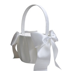 Pure Flower Basket in Satin