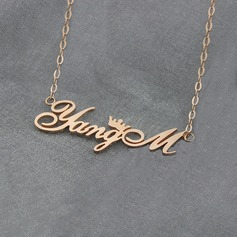 Personalized Unisex Hottest Silver Plated/Rose Gold Plated Name Necklaces For Bridesmaid/For Mother