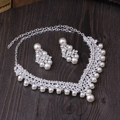 Gorgeous Alloy Imitation Pearls Women's Jewelry Sets (137132075)