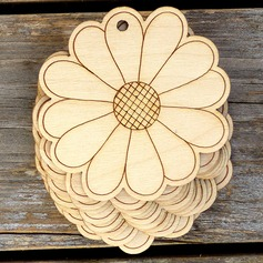 Nice/Beautiful/Flower Design Nice/Lovely/Pretty Wooden Wedding Ornaments