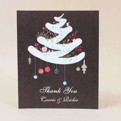 Personalized Christmas Design Hard Card Paper Thank You Cards
