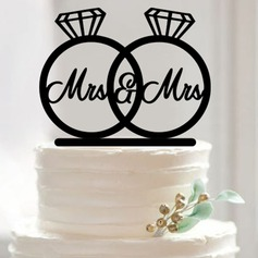 Acrylic Cake Topper (Set of 2)