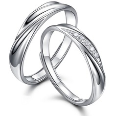 Couples' Classic 925 Sterling Silver Rings For Bride/For Bridesmaid/For Couple