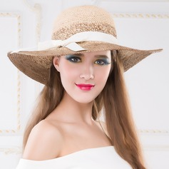 Ladies' Classic Summer Raffia Straw With Bowknot Floppy Hat/Straw Hat