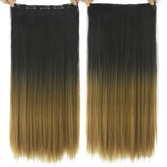 Straight Synthetic Hair Clip in Hair Extensions (Sold in a single piece)