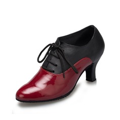 Women's Leatherette Heels Pumps Swing Dance Shoes