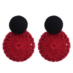 Chic Alloy Cotton String Women's Fashion Earrings (Set of 2)