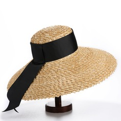 Ladies' Simple/Hottest Polyester/Salty Straw Straw Hats/Beach/Sun Hats/Kentucky Derby Hats