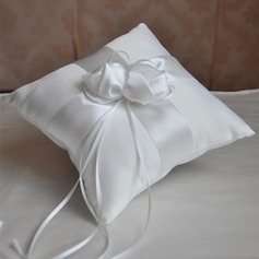 Simple Ring Pillow in Satin/Polyester With Flowers