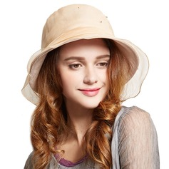 Ladies' Romantic Silk With Rhinestone Bowler/Cloche Hat