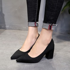 Women's Suede Chunky Heel Pumps Closed Toe With Others shoes