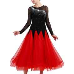 Women's Dancewear Spandex Organza Modern Dance Performance Dresses (115175497)