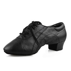 Men's Kids' Real Leather Flats Latin Ballroom Practice Character Shoes Dance Shoes