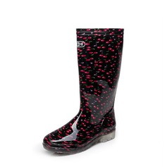 Women's PVC Low Heel Boots Knee High Boots Rain Boots With Others shoes (088138756)